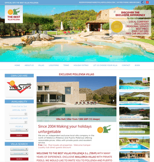 Diseño gráfico, web y corporativo para The Best villas Pollensa - Mallorca